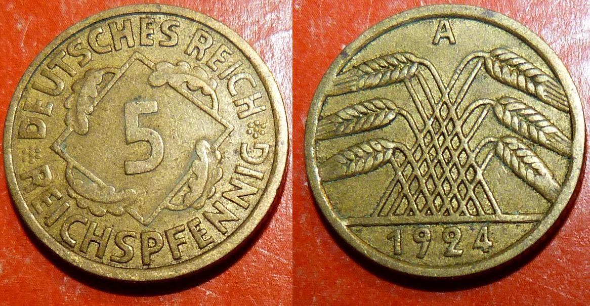 1924 5 reichspfenning
